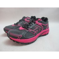 Womens Karrimor Trail Run 2 Running Sport Shoes Grey Pink Lace Up Trainers