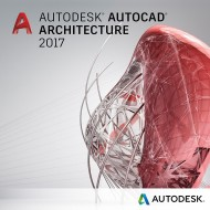 Autodesk AutoCAD Architecture 2017 Commercial New Single-user ELD 2-Year Subscription(Part # 185I1-WW3752-T146)