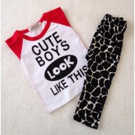 Autumn New baby boy clothing set