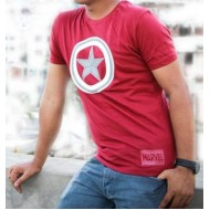 Captain America T-Shirt (Maroon)