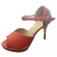 Ladies High Heels Faux Leather Shoe