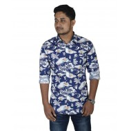 Multi-color Cotton Long Sleeve Casual Shirt for Men