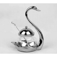 Swan Sugar Bowl and Spoon