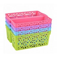 3 compartment storage basket