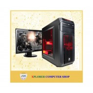 """Desktop CORE 2 DOU 1000GB HDD 2GB RAM DDR2 With 17"""" LED Monitor"""
