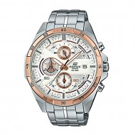 Casio EFR-556DB-7AV Silver Stainless Steel Chronograph Watch for Men