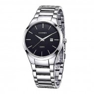 Curren 8106 - Stainless Steel Analog Watches for Men - Silver