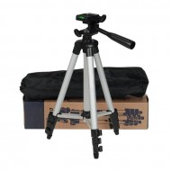 3110 Aluminum Alloy Tripod For Camera and Mobile - Silver and Black (K)