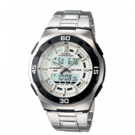 CASIO FASHIONABLE ANALOGUE-DIGITAL SILVER DIAL WATCH FOR GENTS (AQ-164WD-7AVDF)