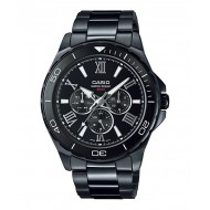 CASIO BLACK MULTIFUNCTIONAL WATCH FOR GENTS(MTD-1075BK-1A1VDF)