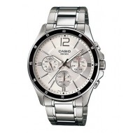 CASIO MULTI-FUNCTIONAL SILVER DIAL WATCH- MTP-1374D-7AVDF