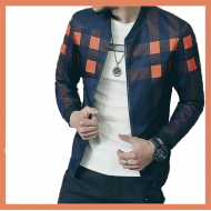 Orange Print Men Jacket (BB)