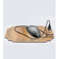 Wooden USB Hub And Mouse Pad MpUhMl01