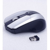 A.Tech Black And Silver Wireless Mouse