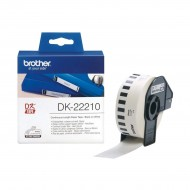 Brother Genuine DK-22210 Continuous Paper Label Roll (Black on White, 29mm wide) (R)