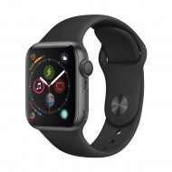 Apple Watch Series 4 40mm Space Gray Aluminum Case with Black Sport Band r