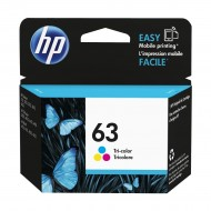 HP 63 Tri-color Original Ink Cartridge (F6U61AN) r