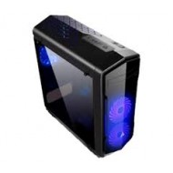 Golden Field 6021B Full Window side panel ATX Gaming Casing with Blue LED Fan r