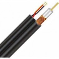 Value Top RG59 CCTV Coaxial Cable With 2 Power Wire Black (300 Meter) #VTRG59ATA2+2PA2(r)