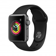 Apple Watch Series 3 42mm Space Gray Aluminum Case with Black Sport Band Smart Watch