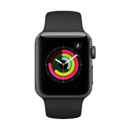 Apple Watch Series 3 38mm Space Gray Aluminum Case with Black Sport Band #MTF02LL/A