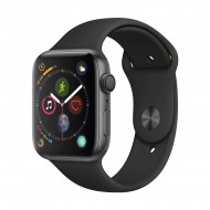 Apple Watch Series 4 44mm Space Gray Aluminum Case with Black Sport Band #MU6D2LL/A