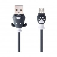 REMAX RC-106m Fortune Micro USB Black Charging & Data Cable for Android Phone (1 Meter)r