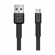 REMAX RC-116m Armor Series Micro USB Black Charging & Data Cable for Android Phone (1 Meter)r