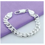 Pure 925 sterling italian silver bracelet for men g