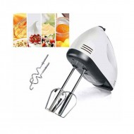 Hand Mixer 7 Speed Electric Egg Beater - White