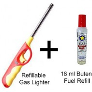 Kitchen Gas Lighter with Gas Refill (Multicolour)