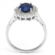2.5ct Blue Sapphire Wedding Ring For Women