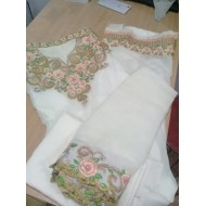Unstructed Gerlit Embroidery Three-Piece