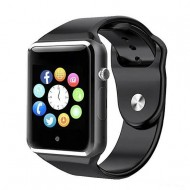 A1 Bluetooth Smart Watch Phone with Pedometer Camera Single SIM - Black