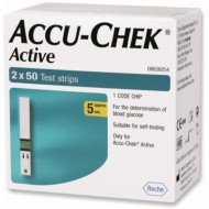 Accu-Chek Active Blood Glucose Test Strips - (50x2) - 100 Strips