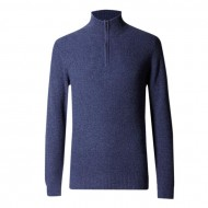 Navy Blue Wool Sweater For Men (A)