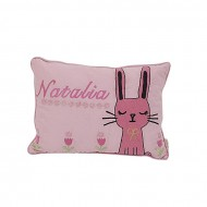 """Baby Bed Story Light Pink Cotton Pillow - 12"""" x 18"""""""