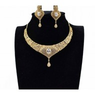 American Diamond Cut Necklace and Year Ring Set