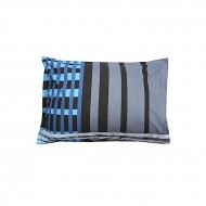 Better Tex Cotton Printed Pillow Cover - Black and Blue