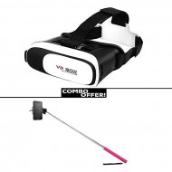 Crazy Mart Combo of 3D Glasses VR BOX and Selfie Stick