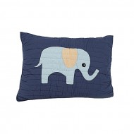 """Baby Bed Story Navy Blue Cotton Pillow - 20"""" x 26"""""""
