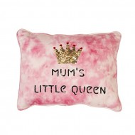 """Baby Bed Story Pink and White Cotton Pillow - 14"""" x 14"""""""