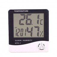 Your offer Digital Room Temperature Meter with Clock HTC-1 - White