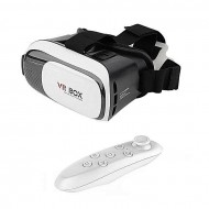 Dhaka Store 3D Glasses VR BOX 2.0 With Remote Controller - Black and White