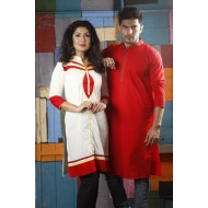 Boishakhi Cuple Red And White