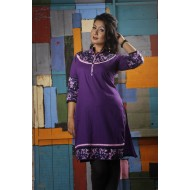 Stylish Boishakhi Top Purple