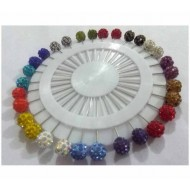 Stone Setting Hijab Pin 30 Piece