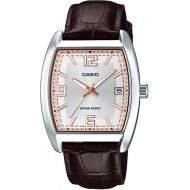 Casio Leather Band Gents Watch [MTP-E107L-7A]