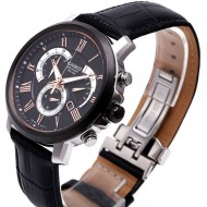 Casio Chronograph Leather Band Watch (BEM-506CL-1AV)