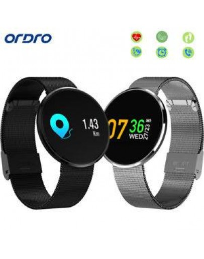 Ordro CF006H Smart Watch - BLACK IPS Color Screen Heart Rate / Blood Pressure